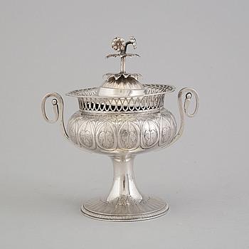 SOCKERSKÅL, silver, mästerstämel CB Wien 1821 (?).
