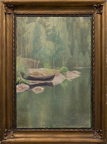 Pekka halonen, oil on canvas, signed and dated 1929