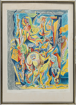 ANDRÉ MASSON, ANDRÉ MASSON, lithograph in color, signed and numbered XXX/C.