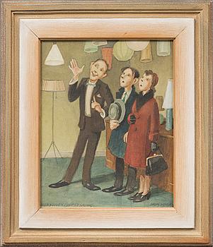 HARALD SKOGSBERG, akvarell, signerad.