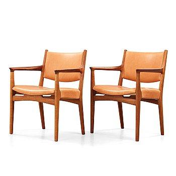 "285. Hans J Wegner, a pair of oak ""JH 525"" chairs, Johannes Hansen, Denmark 1960's."