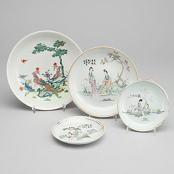 PARTI PORSLIN, 4 st, Kina 1800-1900-tal.