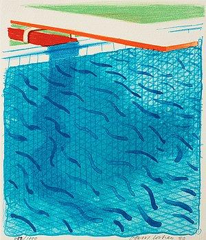 "233. David Hockney, ""Paper Pools""."