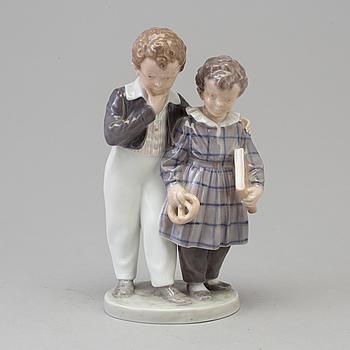 "ROYAL COPENHAGEN, A Royal Copenhagen porcelain figure group, 'The Journey to America"", Denmark, 1940s."