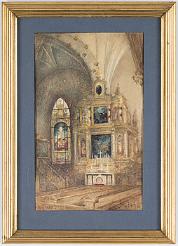 JULIA BECK, akvarell, signerad Julia Beck och daterad Maj 1927.