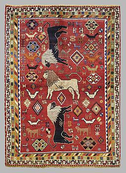 MATTA, Figural Kashgai, ca 223 x 177 cm.