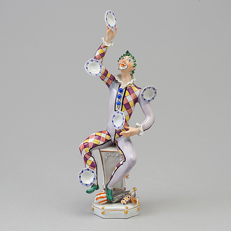 Figurin, porslin. meissen, 1970-tal.