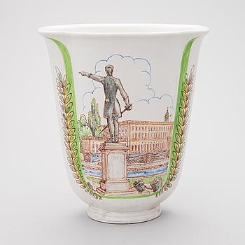 OSKAR DAHL, VAS, keramik, signerad och daterad 1950, Rörstrand.