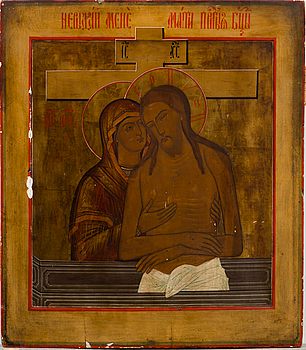 A Russian icon from the latter half of the 19th century.