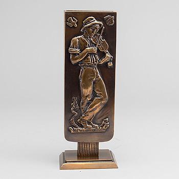 OSCAR ANTONSSON, vas, brons, Athena Ystad, art déco, 1900-talets första hälft.