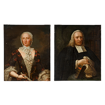 SWEDISH ARTIST, 18th Century, A pair. Oil on canvas.