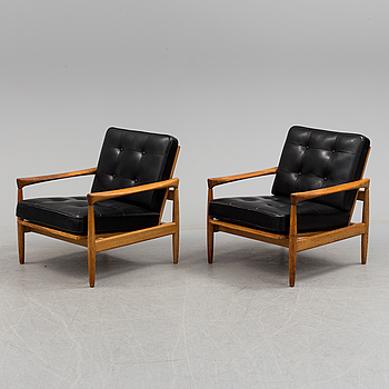 """ERIK WÖRTZ, fåtöljer, ett par, """"Kolding"""", IKEA, 1960-tal."""