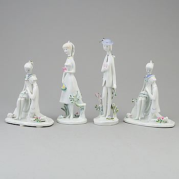 A group of four Rosenthal porcelain figurines, Germany, Studio-line, second half of 20th Century.