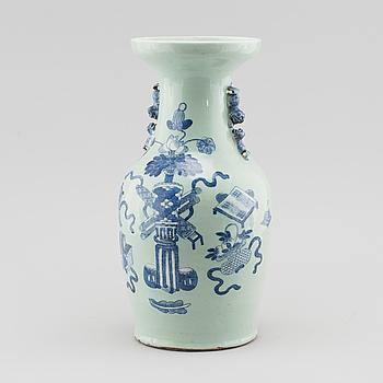 GOLVVAS, porslin, Kina, sent 1800-tal.