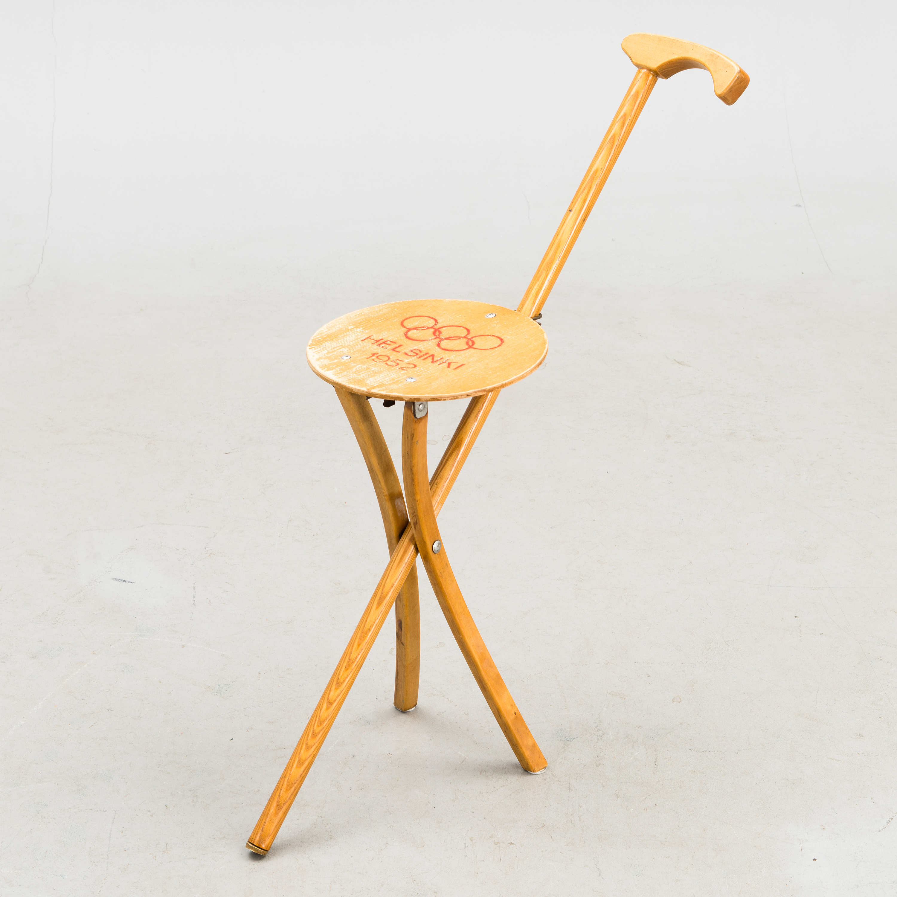 A Finnish Folding Chair Designed For The 1952 Summer