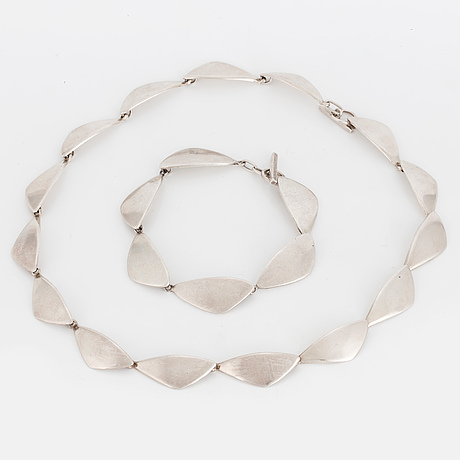 Ulrich, necklace and bracelet, sterlingsilver, denmark.