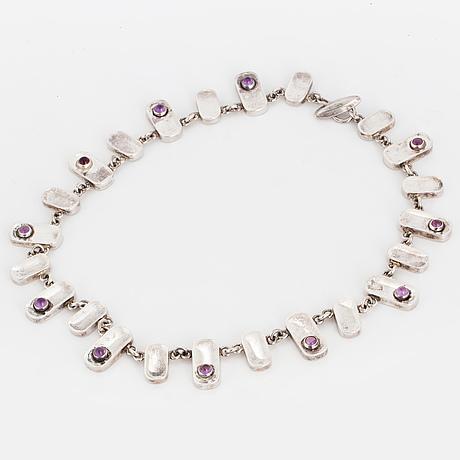 Arvo saarela, necklace with amethyst.