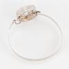 Bracelet, sterlingsilver and rock crystal.