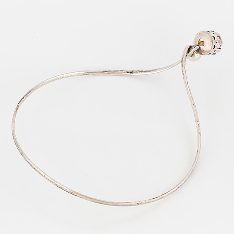 Necklace, with mixed-cut rock crystal. saarela arvo, enköping, 1971.