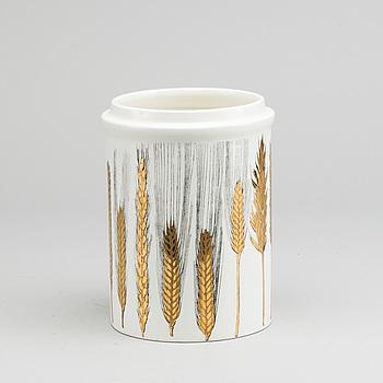 PIERO FORNASETTI, burk/urna porslin,  Italien, 1900-talets andra hälft.