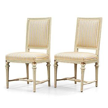 A pair of Gustavian chairs by J Hammarström.