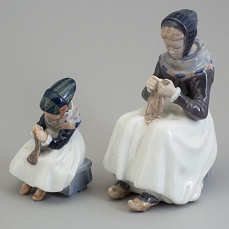 Figurer, två stycken, porslin. royal copenhagen, danmark, 1970-tal.
