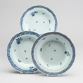 TALLRIKAR 11 + 6 st Kina porslin tidigt 1800-tal.