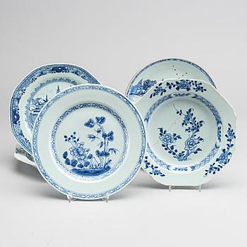 TALLRIKAR 7 st olika Kina tidigt 1800-tal porslin.
