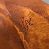 "A traditional wooden sami ""kåsa"", signed la."
