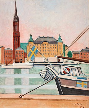 342. Einar Jolin, View over Riddarholmen.