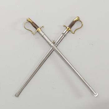 SABLAR, 2 st, m/1889 för artilleriet.