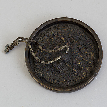 SPEGEL, brons. Qingdynastin, 1800-tal.