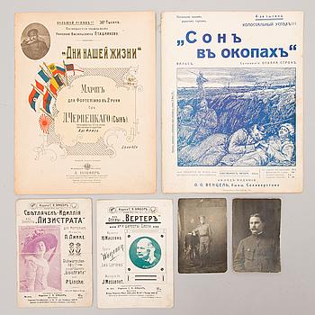 FOTOGRAFIER, 2 ST OCH NOTHÄFTEN, 4 ST, Ryssland, 1910-tal.