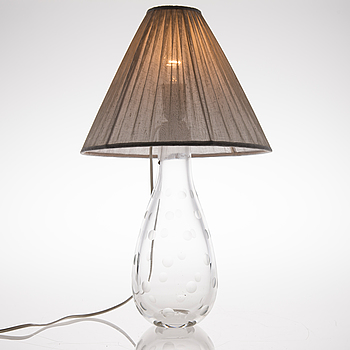 GUNNEL NYMAN, A 1948s table lamp for Nuutajärvi/Idman Finland.