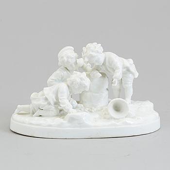 A German porcelain figure group, presumably Meissen, circa 1900.
