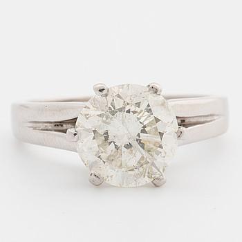 RING, med briljantslipad diamant ca 3.02 ct.