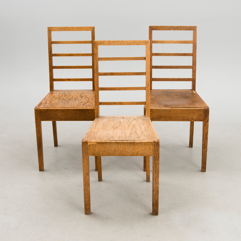 Eliel saarinen three early 20th century chairs for the for Eliel saarinen furniture