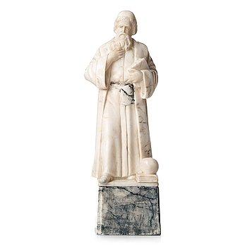 OKÄND KONSTNÄR 1800/1900-TAL , skulptur, alabaster, osignerad, höjd 51,5 cm.