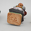Six wooden figurines by lars enarsson, signed l.e.