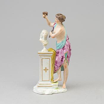 "FIGURIN, porslin. ""Skulpturens musa"". Samson, Paris, Frankrike, 1800-talets slut."