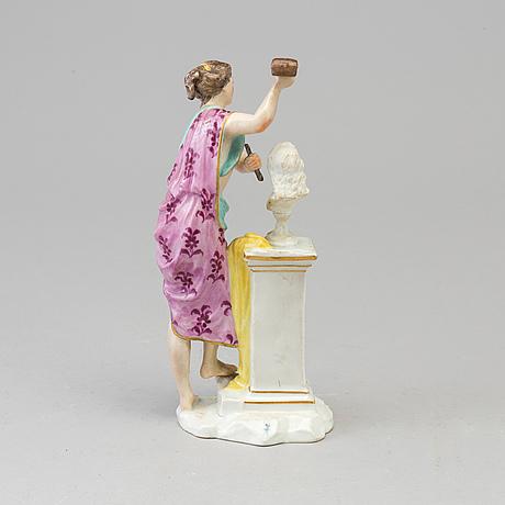 A samson porcelain figure, paris, france, late 19th century.