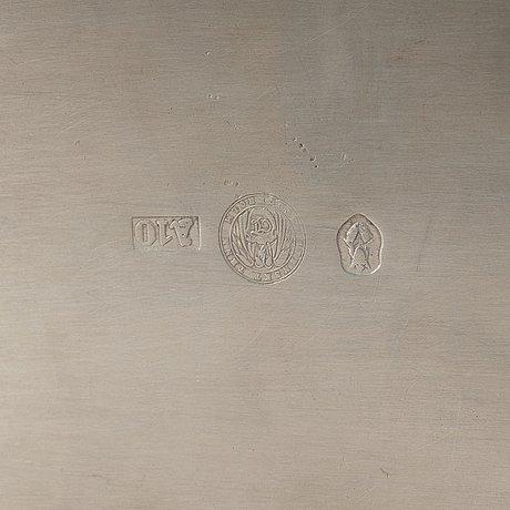Estrid ericson, a pewter and agate casket, stockholm 1975.