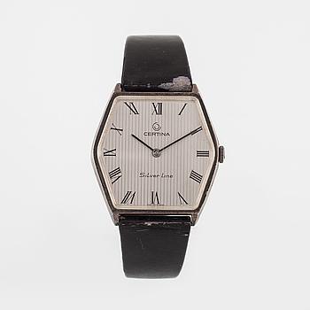 CERTINA, Silver Line, armbandsur, 31,5 x 30,5 mm.