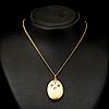 A pendant, facetted demantoids, 14k (56) gold. st petersburg 1864-1908.