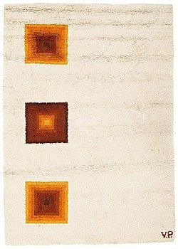 5. VERNER PANTON, MATTA, handknuten, Marocko, ca 295 x 209 cm, signerad V.P. (Verner Panton).