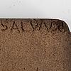 Ernest salvado, cork object sculpture, signed.