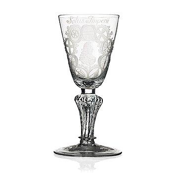 239. POKAL, glas. Tyskland, 1700-tal.