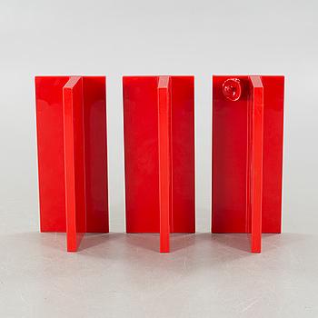 Three shelves, designed by Marcello Siard for Kartell, 1970s.