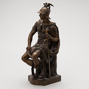 PAUL DUBOIS, brons, signerad, gjuteri F.Barbedienne.