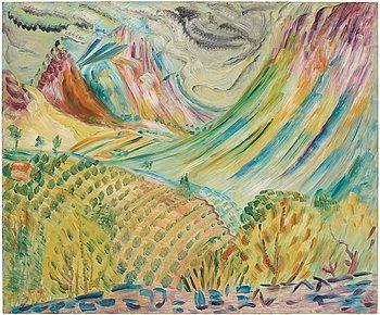 """402. SIGRID HJERTÉN, """"Bergskedjorna"""" (Mountains)."""